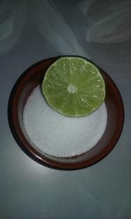 Sugar and 1/2 lime